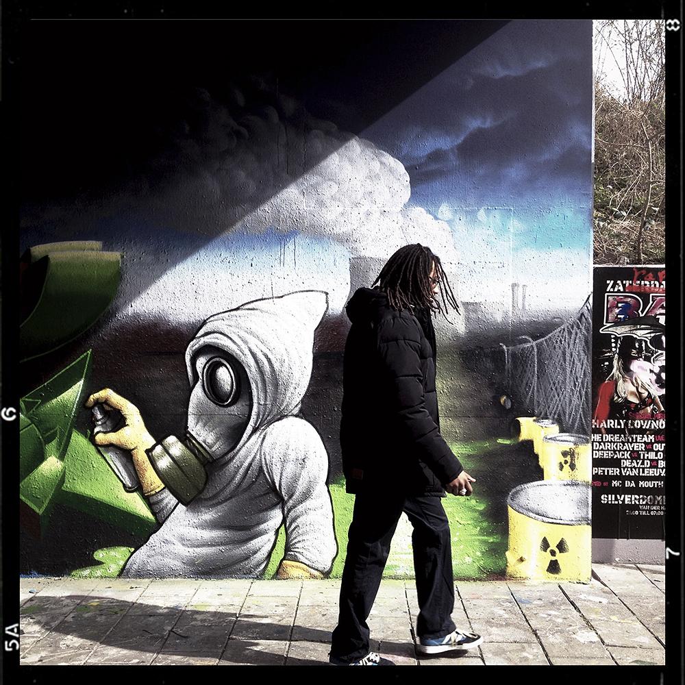 Nucleaire onvrede op de legale graffitiplek aan de Binckhorstlaan 36 in Den Haag