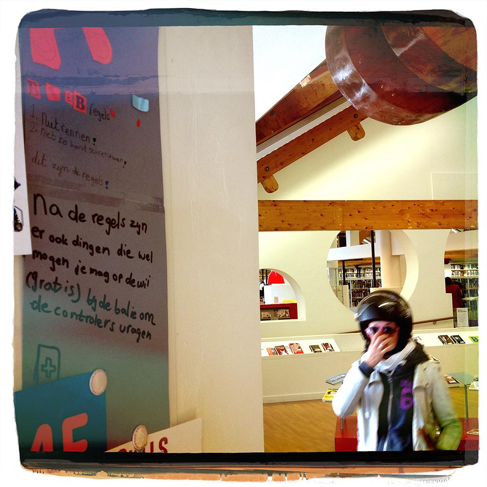 Er mag gelukkig ook iets in Bibliotheek Nieuw Waldeck