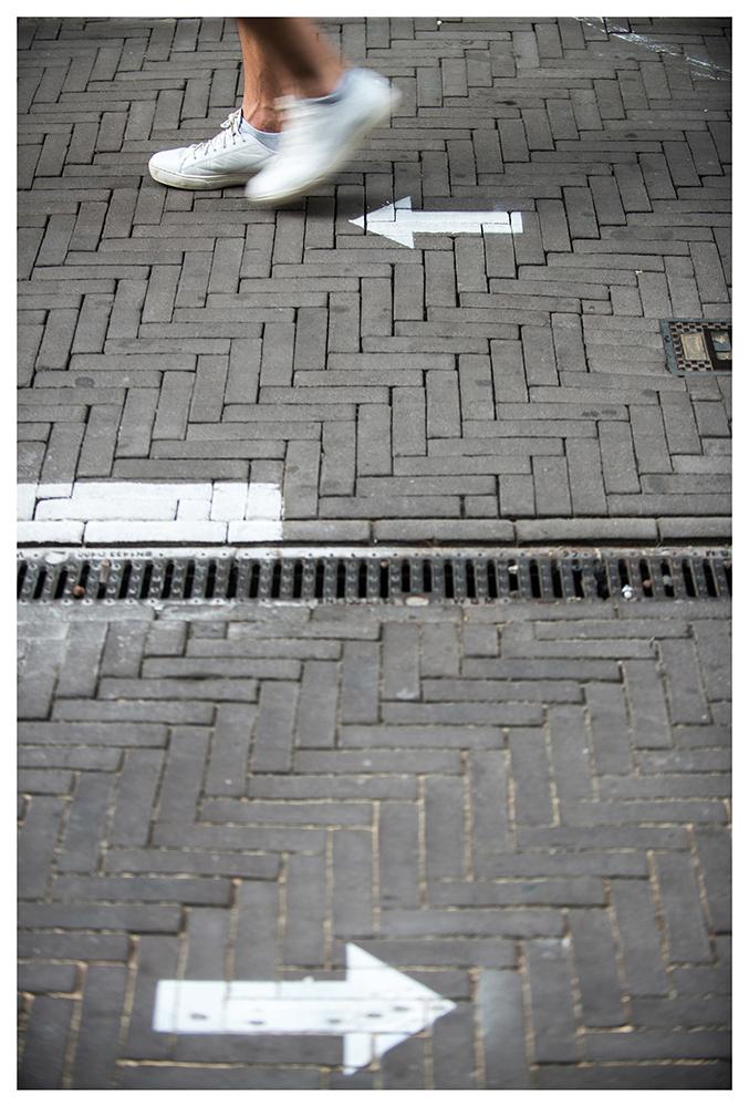 Walk the line - Corona measures 2020 - ©Mylène Siegers